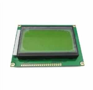 5pcs St7920 5v 12864 128x64 Dots Graphic Lcd Yellow Green Backlight Ic New Nf