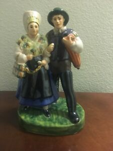 Superb Large Mid 19thc Staffordshire Figurine Couple Marked 348