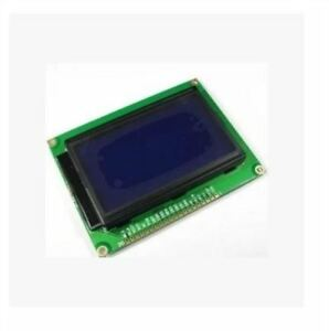 5pcs 5v 12864 Lcd Display Module 128x64 Dots Graphic Matrix Lcd Blue Backligh Cr