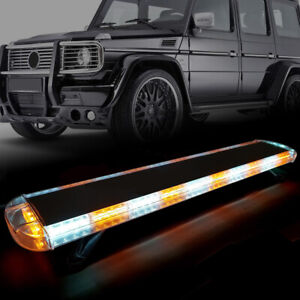 4x White Car 4 Led Emergency Strobe Light Kit Bar Marker Flash Warning Lamp