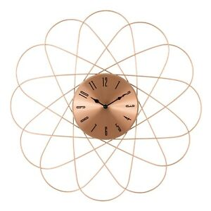 Mid Century Modern Style Retro Copper Round Wall Clock