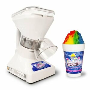Premium Shaved Ice Snow Cone Machine Maker Ice Shaver Crusher 6 Syrup Samples