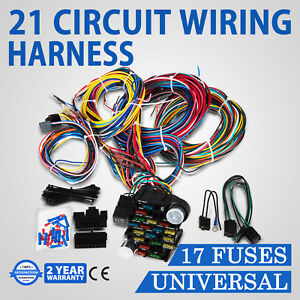 21 Circuit Wiring Harness For Chevy Ford Hotrods Universal X Long Wires