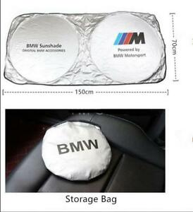 Foldable Car Windshield Sun Shade Blocks Uv Rays Sun Visor Protector For Bmw M