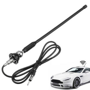Car Radio Am Fm Amplified Signal Aerial Antenna 16 Universal Mount Swivel Base