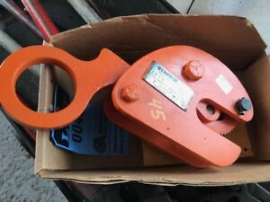 Renfroe Model Bd Vertical Lift Plate Clamp 1 Ton Plate Thickness 0 1 3 16