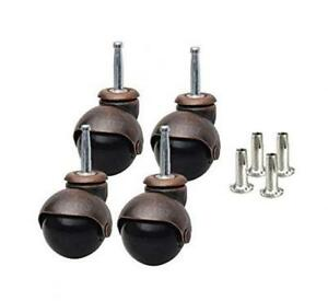 Caster Classics 4 pack 2 inch Antique Copper Ball With Wood Stem And Socket