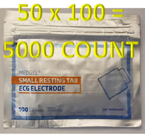 Resting Tab Ekg ecg Diagnostic Tab Electrode 5000 Count Disposable Free Ship