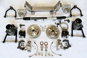 1947 1954 Chevy 1 2 Truck Mustang Ii Front Ifs Air Ride Kit Power Steering new