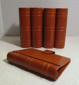 Levenger Leather Book Ends And 6 ring Folio Binder