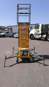 Telescopic Vertical Mast Aerial Man Lift 35 Reaching Height