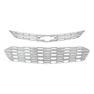 Chrome Grille Overlay 2 Pieces Kit For 2016 2017 2018 Chevy Cruze L Ls