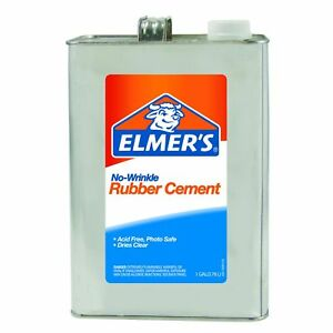 Elmers No wrinkle Rubber Cement 1 Gallon Clear 234