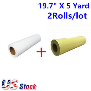 Usa Eco solvent Printable Heat Transfer Vinyl Application Tape 19 7 X 5 Yard