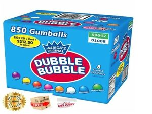 Assorted Fruit Gumballs 850 Pcs Eight Mix Colors And Flavors By Dubble Bubble