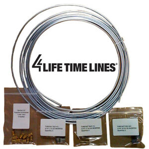 25 Ft 3 16 In Galvanized Steel Coil Brake Line Kit Includes Fittings