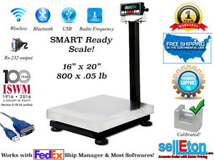 New Smart Ready Bench Scale With Cap Of 800 X 05 Lb With Rs 232 Port Fed Ex