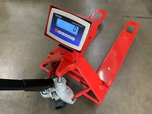 Industrial Warehouse Pallet Jack Scale With 5000 X 1 Lb 2 Year Warranty