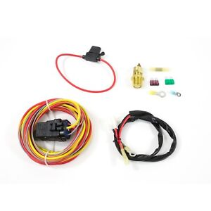 Electric Fan Relay Wiring Kit 165 Off 185 On Switch Thread In Probe 3 8 Npt