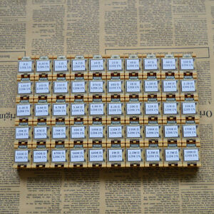 50 Value 1206 3 2x1 6mm Smd Resistor Box Kit 0r 10mr 1 1 4w 5000pcs Rohs