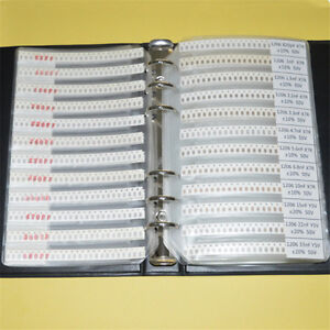 1206 Smd 170 Value Resistor 50 Value Capacitor Assorted Kit Sample Book New