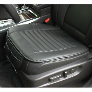 Breathable Pu Leather Charcoal Car Seat Cushion Cover Pad Mat Protector Pockets