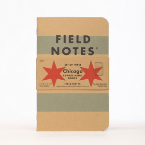 Chicago Graph Paper Field Notes 48 Page Memo Book 3 Pack Pocket Size 3 Staples