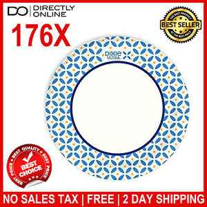176 Pack Premium Paper Plates Disposable Catering Events Birthday Party Supplies
