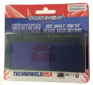 Techniweld Armour Guard Seer 2 X 4 25 Auto Darkening Fixed Shade 10 Welding Lens