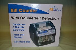 Royal Sovereign Front Loading Cash Counter Dual Counterfeit Protection Rbc 1003