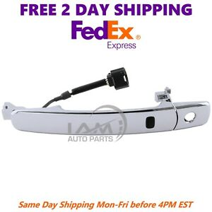 Front Left Outside Chrome Door Handle Smart Entry For 2010 2013 Nissan Rogue