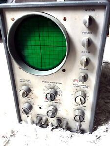 Vintage Eico Oscilloscope Dc Wide Band Model 427 Rare Industrial Decor