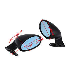 2x Car Suv Classic Door Wing Side Mirror Hot Rod Muscle Universal Vintage Black