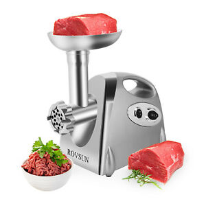 2000w Electric Meat Grinder Home Kitchen Maker Mincer With 3 Sausage Attachment