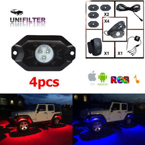4pcs 10w White Led Rock Light Jeep Off road Truck Under Body Trail Rig Light