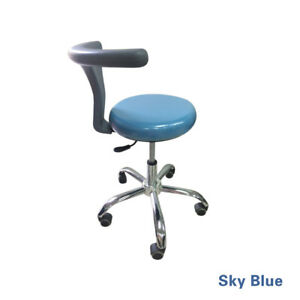 Dental Adjustable Mobile Doctor s Assistant Stools Surgical Chair Pu Leather B1