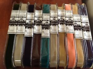 Lot 500 Yards New 1 Velvet Ribbon Nylon Fabric Made In Switzerland Washable