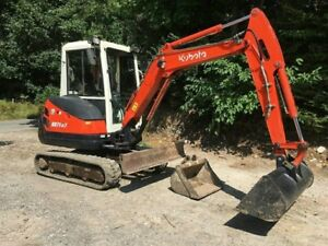 2012 Mini Excavator Kubota Kx71 3 Rubber Tracked Air Cond Low Hours