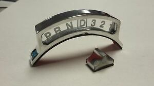 Polished Overdrive Column Shift Indicator Stick On Ford Chevy Street Rod 4 Speed