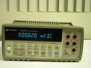 Keysight Agilent Hp 34401a 6 1 2 Digit Multimeter Calibrated To Nist