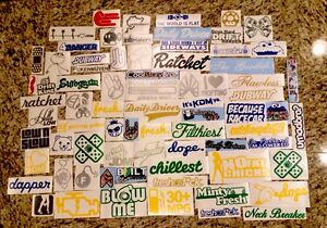 Random Jdm Lot Pack Of 100 Stickers Decals Drifting Racing Stance Dope Low 4435