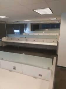 200 Steelcase Answers Benching Desks Open Plan Work Stations With Glass