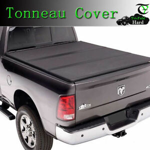 For 2007 2013 Chevy Silverado 8ft Long Bed Tri Fold Hard Solid Tonneau Cover