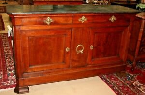 Antique French Empire Flame Mahogany Sideboard Console Buffet Chest Server 77 5w