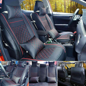 Newly Car Seat Cover Leather Comfortable Durable 5 seat For Interior Accessories
