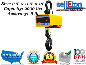 New Industrial Super Duty Crane Scale Hanging Scale Large Enclosure 2000 X 5