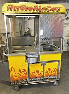 Mobile Hot Dog Cart Food Vending Concession Stand Kiosk Pretzels Pizza