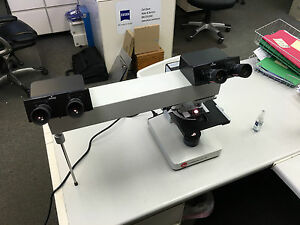 Leitz Laborlux 11 Teaching Microscope Dual Headed Co observation