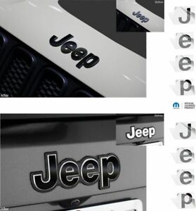 Jeep Front And Rear Emblem Overlay Decals For 2015 2020 Jeep Renegade