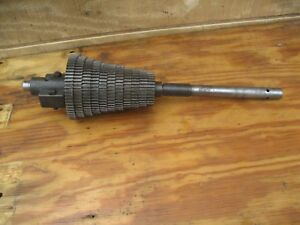 Lodge And Shipley Antique Lathe Quick Change Gears Shaft And Block